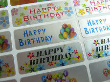 Happy Birthday Greeting Stickers, Labels for Cards, Envelopes HBS4715