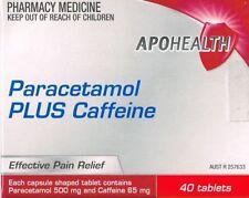 PARACETAMOL PLUS CAFFEINE 40 TABLETS (same as PANADOL EXTRA) APO BRAND