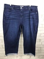 Lane Bryant Essential Stretch Girlfriend Crop Cuffed Jeans Mid-Rise Size 24