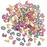 100pcs sortierte Farbholzzahlen für Kunsthandwerk DIY Dekoration-Anzeige