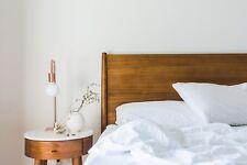 Luxury 100% Bamboo Bedding Duvet Cover Set Natural White