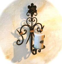 Toller Kerzenhalter Schmiedeeisen im Landhausstil, Wand-Kerzenleuchter mit Kerze