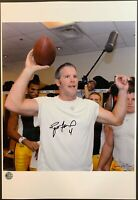 Brett Favre Game Ball Packers Signed Photo Also Autographed by Photographer COA