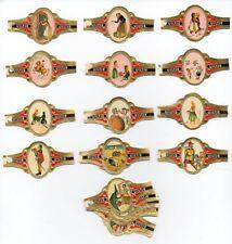 Vitolas. Serie uiltje - Cuentos, serie 1, 24 vitolas. Cigar bands. Bauchbinden.