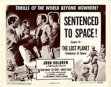 Lost Planet Chapter 15   4 Lobby Card Set  1953  NM   Sentenced to Space