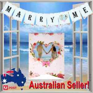 Cardboard Marry Me Banner Flag Bunting DIY Wedding Engagement Party Decor