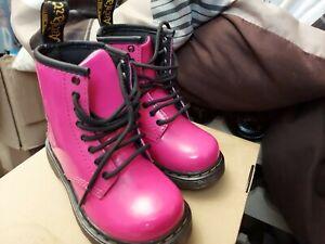 Dr. Martens Toddler US 7 Brooklee Hot Pink Patent Lamper 15373670