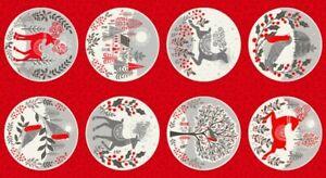 Christmas Scandi Circles Panel
