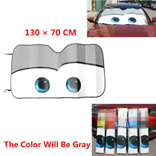 Cartoon Gray Big Eye Car Folded Foil Sun Shade Windshield Visor UV Shield Block