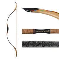 """30-55lbs Traditional Archery Hunting 55"""" Recurve Bow Mongolian Longbow Both Hand"""