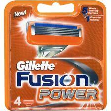 GILLETTE FUSION POWER MEN'S LAMA DI RASOIO Cartucce di ricarica di ricambio - 4 Confezione