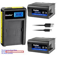 Kastar F980 Battery LCD Charger for Sony NP-F970 MVC-FD73 MVC-FD75 MVC-FD81