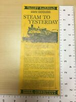 Vintage Brochure Valley Railroad Scenic Excursions Steam to Yesterday Essex CT