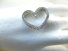 Heart-Shaped Pendant With Diamonds Finished IN 585 White Gold
