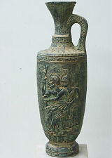 17th VINTAGE AMPHORA ANCIENT BOTTLE DECANTER JUG GREEK GODS IN RELIEF MEANDER