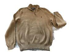 Men's Medium Polo Ralph Lauren Pullover Tan Sweater Preowned