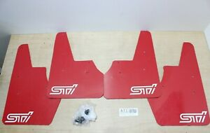 JDM Subaru Impreza WRX GRF STI Red Mudflaps Mudguards Splash guards