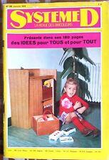 SYSTEME D du 1/1970; Scie a ruban/ Bureau coffre à jouets/ Chaise et table