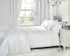 White Luxury Bedding Set Plain Floral Embroided Scatter Cushion Available
