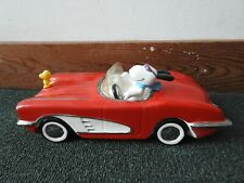 "Peanuts Snoopy ""Joe Cool"" Car Music Box Corvette Willitts Vintage"