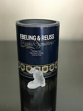 SWAROVSKI EBELING and REUSS frosted DOG / PUPPY in a SHOE BOOT with ORIGINAL BOX