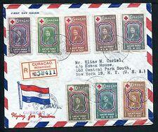 Curacao Voorloper FDC VLp04 _ 20 M, met adres ; censuur, aangetekend.