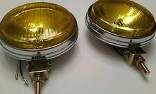 bmw e10 e28 2002tii ti 1600 e30 chrome amber metal bumper mount fog lights pair