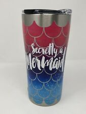 Tumbler NEW Tervis SIC SECRETLY A MERMAID Stainless Steel Unique 20 oz w/ Lid