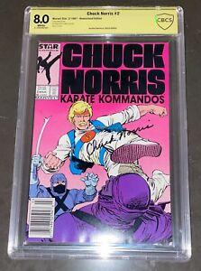 CHUCK NORRIS SIGNED CHUCK NORRIS KARATE KOMMANDOS #2 COMIC BOOK CBCS 8.0 NOT CGC