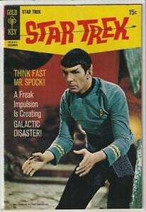 """Star Trek #6 Gold Key 1969 """"When Planets Collide"""" Great Photo Cover"""