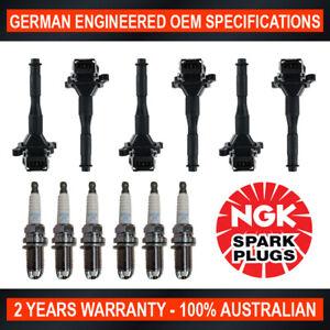6x NGK Spark Plugs & 6x Swan Ignition Coils for BMW 323i 328i E36 520i E39