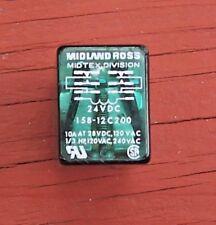 Midtex 158-12C200 Relay 24VDC 10A 28VDC 1/3HP 14-Pin