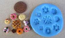 1:12 Scale Reusable Silicon Rubber Biscuit Shortbread Mould Tumdee Dolls House
