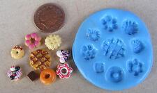 1:12 RIUTILIZZABILE IN SILICONE GOMMA BISCOTTO BISCOTTI Stampo in miniatura casa delle bambole