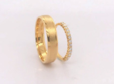 .28 Carat Diamond Yellow Gold Wedding Rings 18K (MTO) sep *