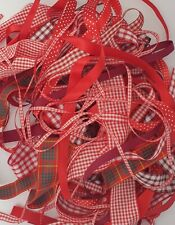 Red Shade Ribbon Bundles Berisfords A Selection of 10 x 1m Lengths