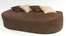 16cuf Faux Suede Beanbag Bed Bean Bag Sofa Filled Brown