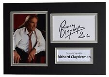 Richard Clayderman Signed Autograph A4 photo display Piano Music AFTAL & COA
