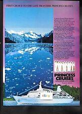 PRINCESS CRUISES TO ALASKA ON THE PACIFIC PRINCESS GLACIERS 1984 AD