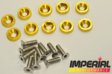 PASSWORD JDM Fender Washers GOLD x10 Honda Civic Integra CRX Type R EG FN2 DC5