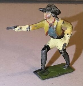 Vintage Barclays? Manoil? Lead Toy Soldier Buffalo Bill General Custer Pistol
