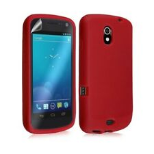 Case cover silicone case for samsung galaxy nexus red color + film écr