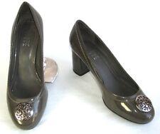 GEOX - Zapatos tacones 7 cm charol gris caqui 38 - EXCELENTE ESTADO