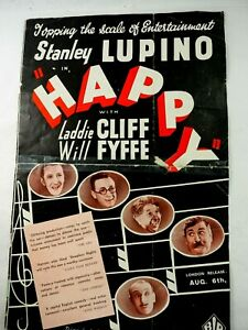 Stanley Lupino in Happy & Charles Bickford in Red Wagon Double Side Poster 1933