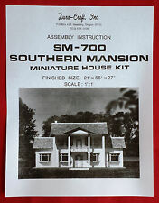 Dura-Craft  *SOUTHERN MANSION* SM-700 (1981)  Dollhouse Instructions