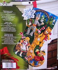 Bucilla WIZARD OF OZ Felt Christmas Stocking Kit Dog Factory DirectOOP VERY RARE