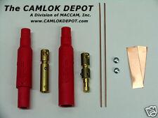 Camlok #8 - #4 MALE & FEMALE Pair Kit - RED