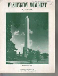 Washington Monument 1948 Sheet Music