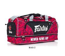 Fnew Fairtex Gym Bag Carry Bag2 Camo Red Gear Equipment Muay Thai Boxing Mma K1
