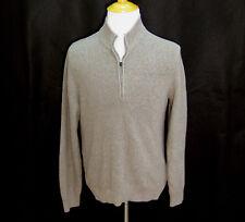 IZOD Mens Light Brown Long Sleeve 1/2 Sweater (Size XL) 100% Cotton Jumper